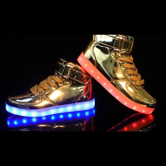 Shoes | Gold Led Light Up Shoes | Poshmark